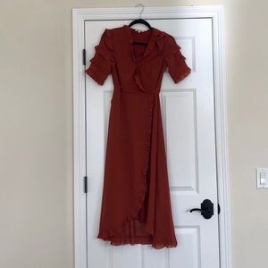 🍂😍🍂Burnt orange maxi dress